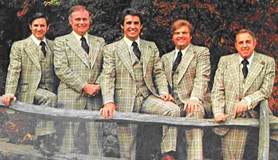The Cathedrals in 1976 - George Younce far right