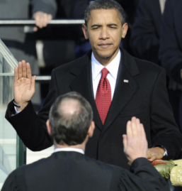 Barack Obama Swearing To Uphold The Constitution