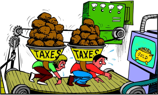 Self-defeating tax burden