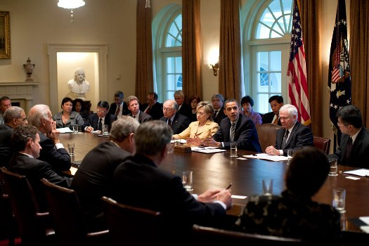 First Obama Cabinet Meeting 20 April 2009