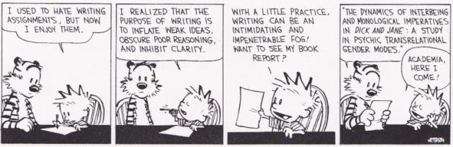 Calvin and Hobbes - Academia here I come