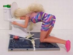 barfing barbie