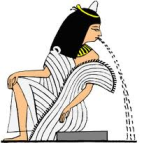 puking egyption godess