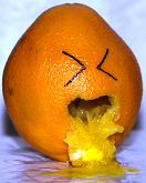 Puking orange