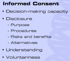 Informed consent is essential to freedom