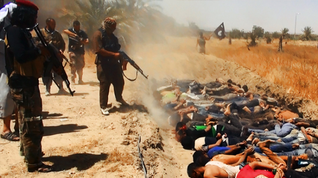 ISIS commits mass murder - advertises it