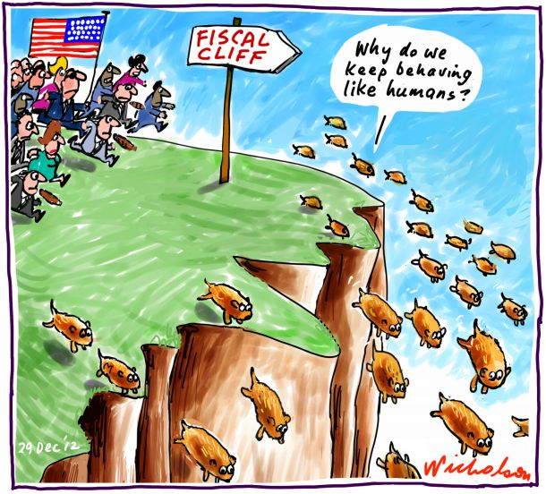 Even Majority Rule Can't Dictate Economic Reality ... Obama Lemmings Jumping Off A Cliff