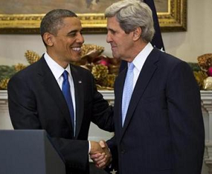 Obama and Kerry clasp hands