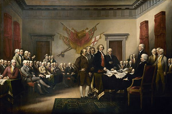 Declaration of Independence presented to 2nd Continental Congress 6-28-1776